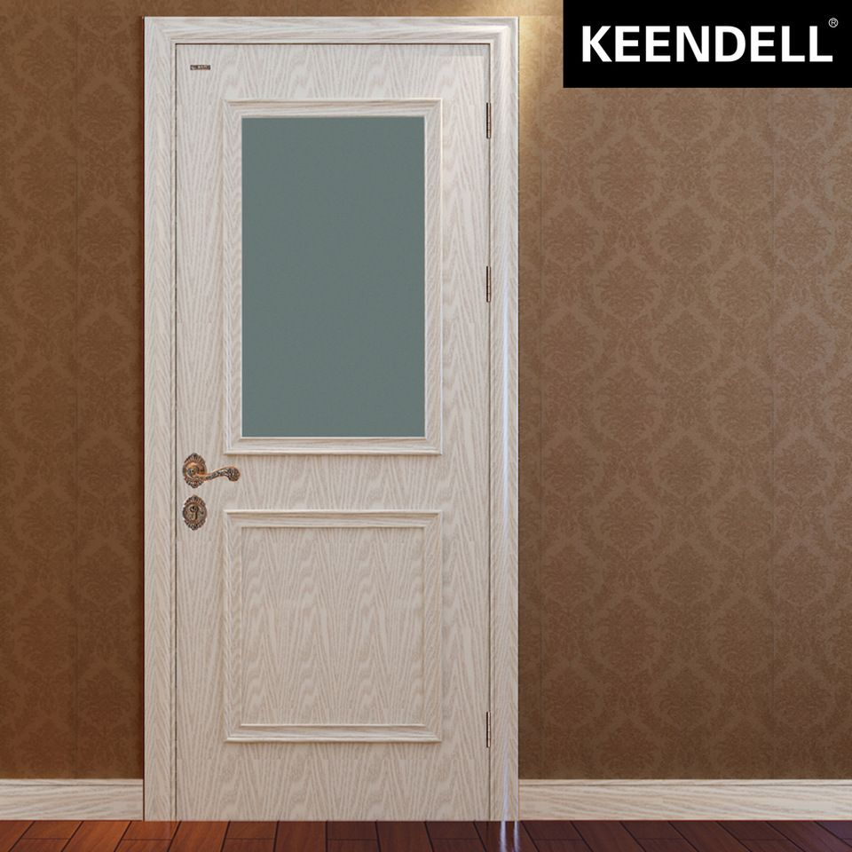 China supplier solid wooden main MDF door design for toilet ...