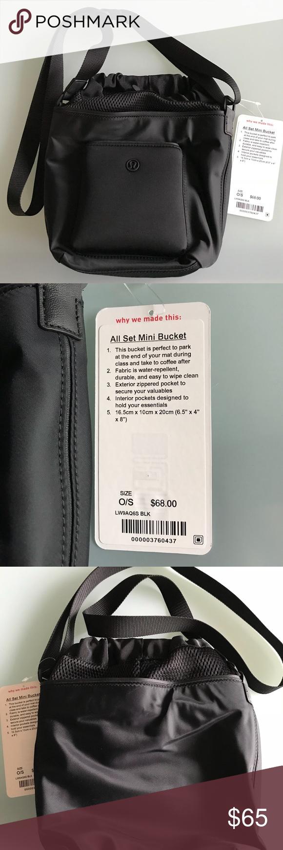51b9b291 Lululemon All Set Mini Bucket Bag Lululemon All Set Mini Bucket bag in  black. NWT lululemon athletica Bags Mini Bags | My Posh Picks | Mini Bag,  Bags, ...