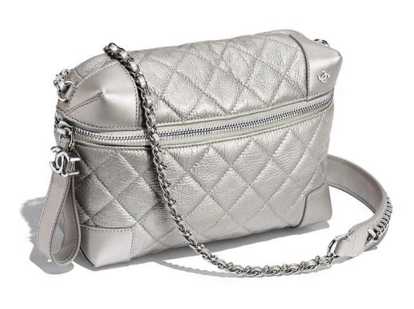 chanel waist bag. chanel waist bag: metallic calfskin + silver-tone metal: silver chanel bag a