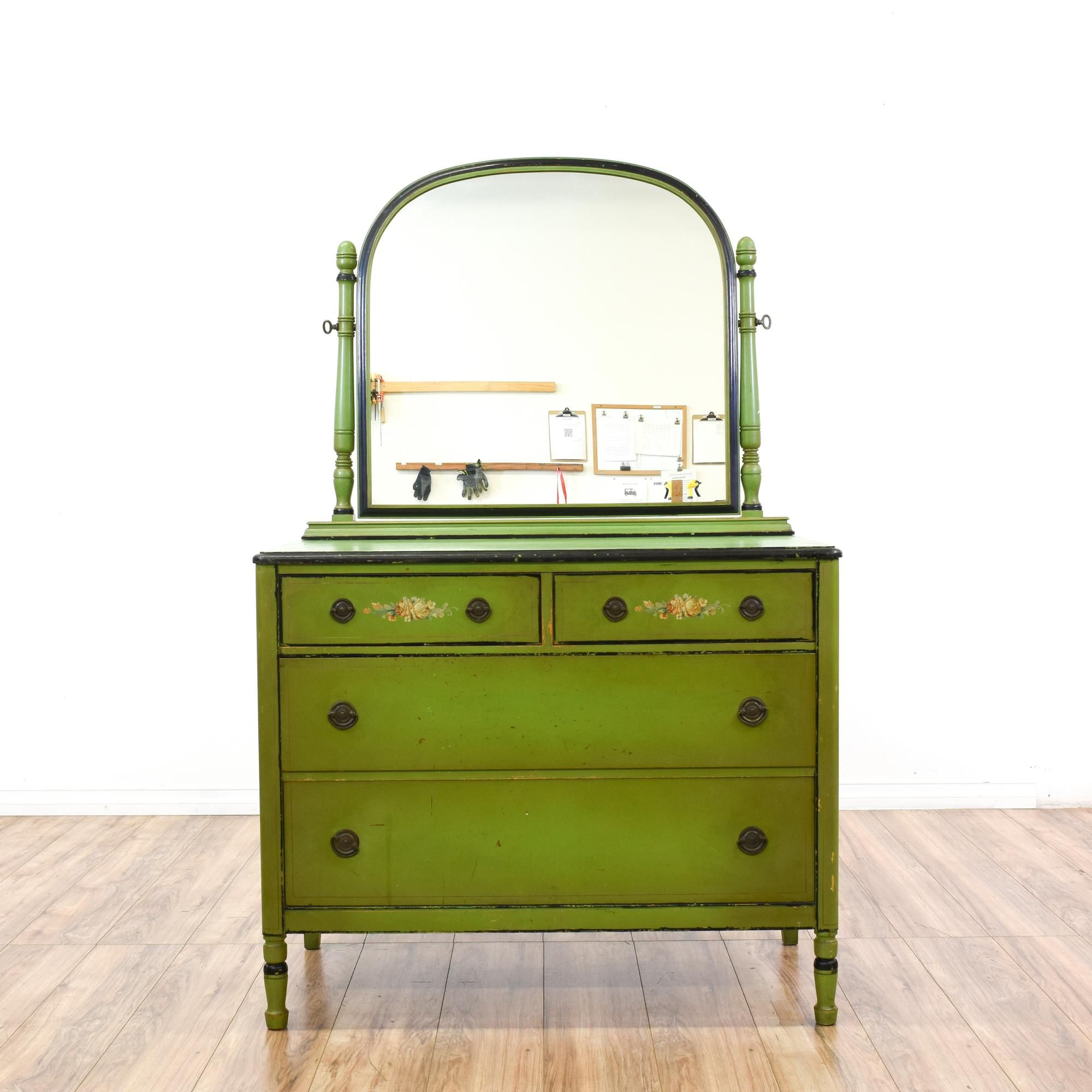 This Luce Furniture Antique Dresser Is Featured In A Solid Wood With Distressed