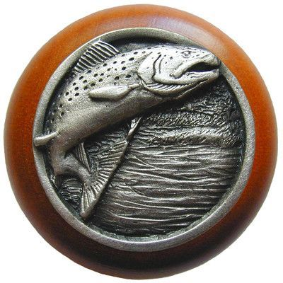 Notting Hill Great Outdoors Mushroom Knob Finish: Antique Pewter / Cherry Wood