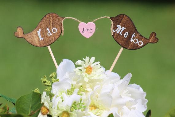 Lovebirds Cake Topper  I do Me Too Rustic  Cupcake by WeddingPros, $17.00