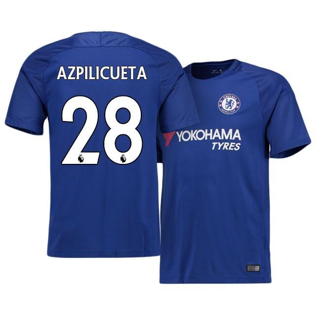 17-18 Chelsea Home Shirt cesar azpilicueta