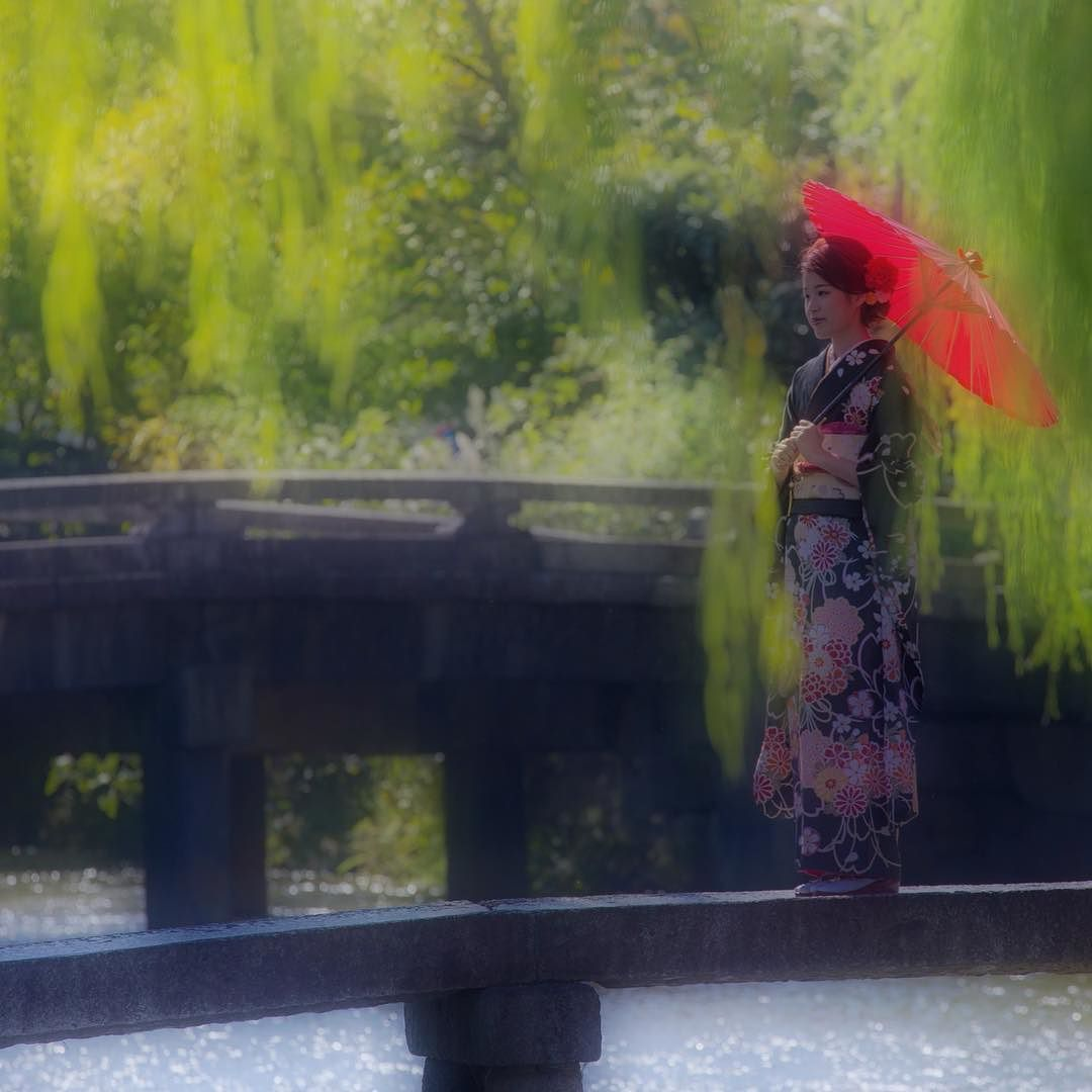 二十歳の記念に . 京都 東山区  白川 行者橋 . Kyoto.Japan . 2015.10.18 . .  白川で娘さんが二十歳になった記念にと記念撮影をされてるご家族にお会いしました . 撮らしてもらってもよろしいですか と尋ねてみたらこころよく了承して下さいました .  撮影中の娘さんを微笑ましく見ていらっしゃるご両親そしてお祖母様 娘さんお孫さんの成長を本当に喜んでいらっしゃいました . 僕も素敵なご家族時間に出会えた事を感謝します . そしてお嬢様が素敵な女性になられて素晴らしい人生を送られる事を願います . . .#japan #kyoto #京都 #白川 #業者橋 #振袖 #着物 # by oyabun1gou