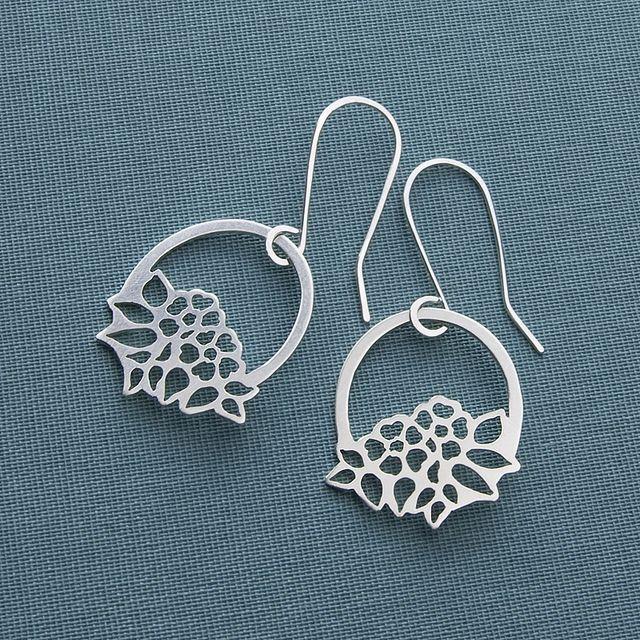 Basket of flowers earrings | Flickr: Intercambio de fotos