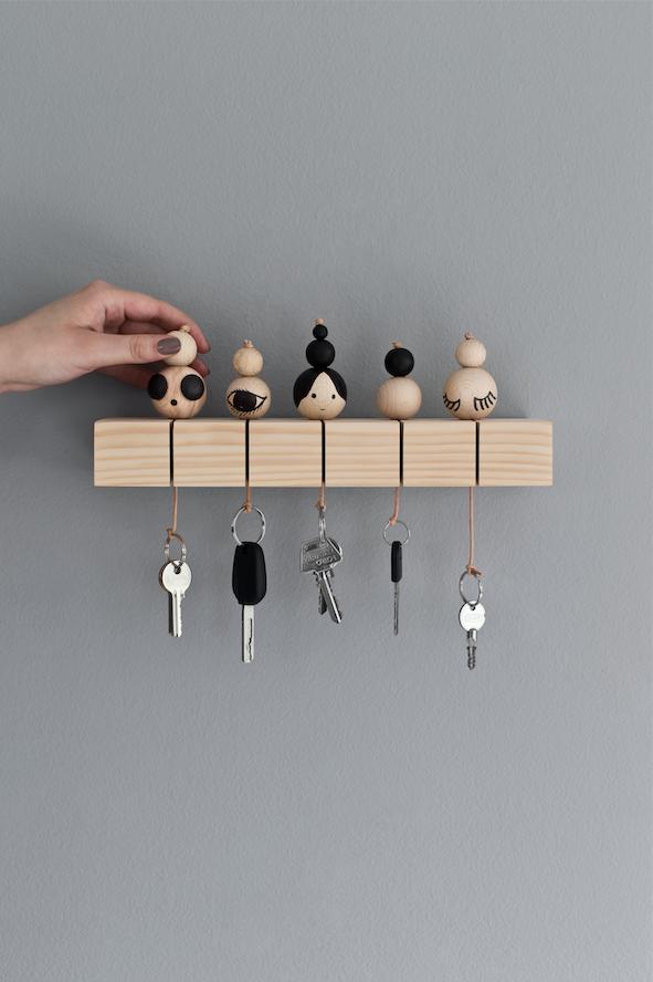 beautifully idea key holders for wall. Key board  Styling Rikke Graff Juel Danish Interior stylist Photo