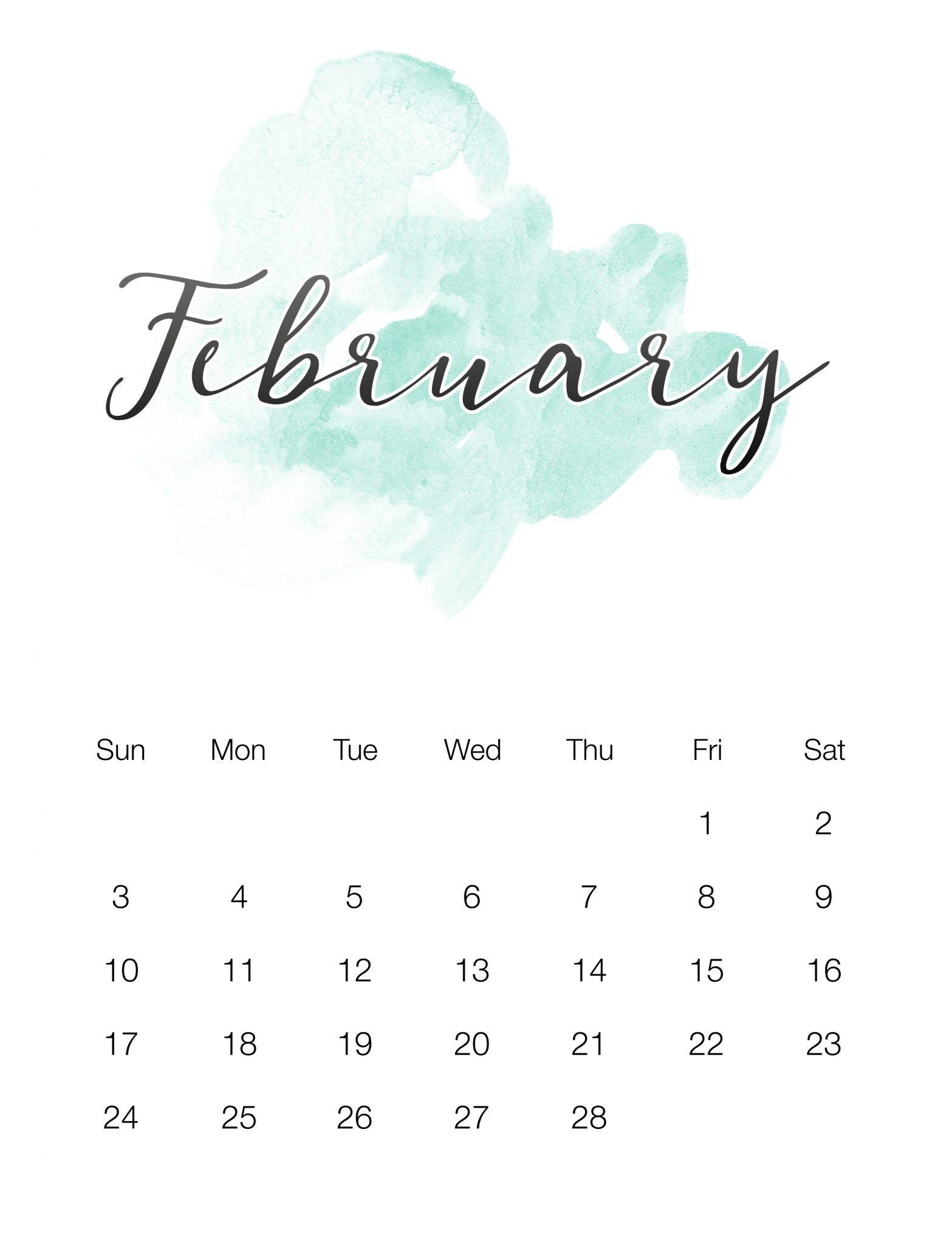 February Cute Desktop Calendar 2019 Cute February 2019 Calendar Wallpaper | Calendar of February 2019