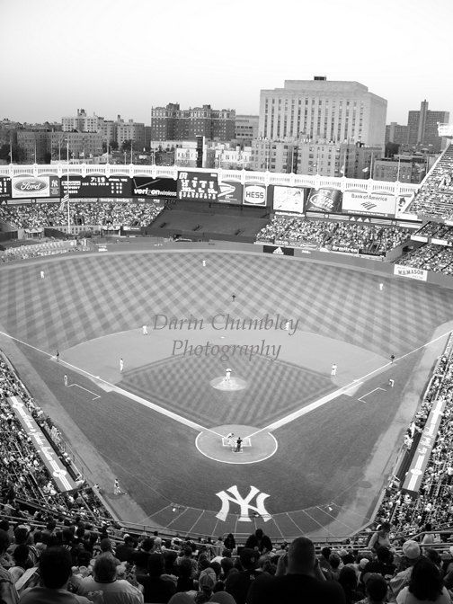Fine art photography old yankee stadium new york city black and white