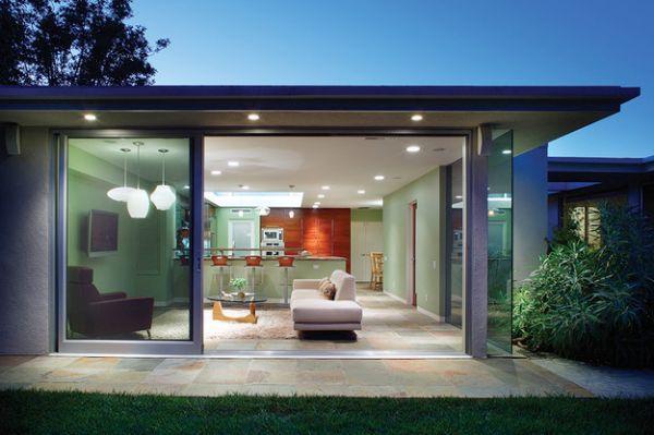 40 Stunning Sliding Glass Door Designs For The Dynamic Modern Home Mid Century Modern House Door Glass Design Modern Sliding Glass Doors