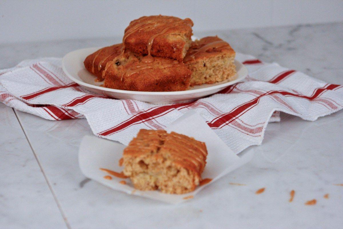 Banana bread with cinnamon honey cream by Bumbleberry Farms