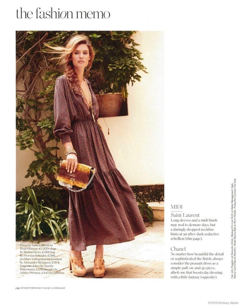 Bianca balti wears bohemian style for porter by hilary walsh