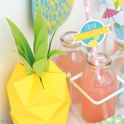 DIY Ananas 3D en papier