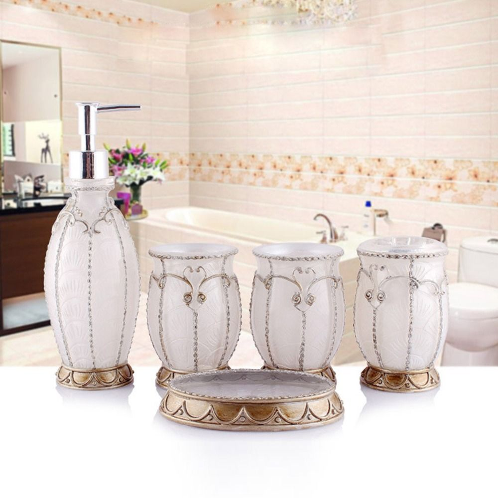 Aliexpresscom Buy Hand Crafted Pearl White Set Of PC Resin Bath - Where to buy bathroom accessories