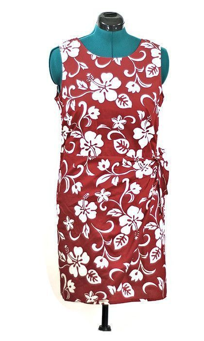 Walk the Beach in Hawaii Cotton Wrap Dress, New Listing