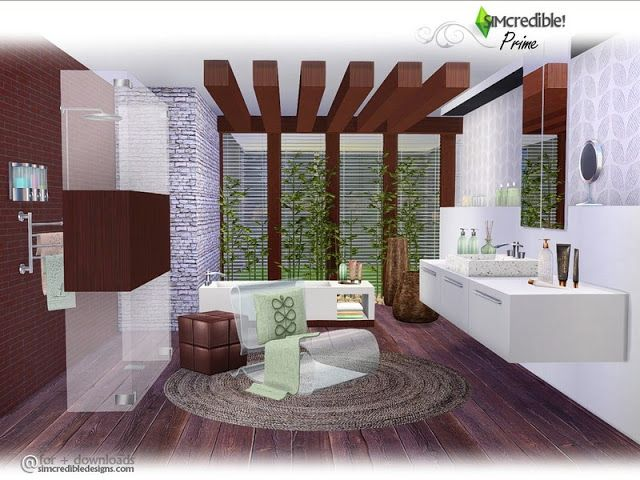 Sims 4 CC\'s - The Best: Bathroom by SIMcredible! | Sims 4 CC ...