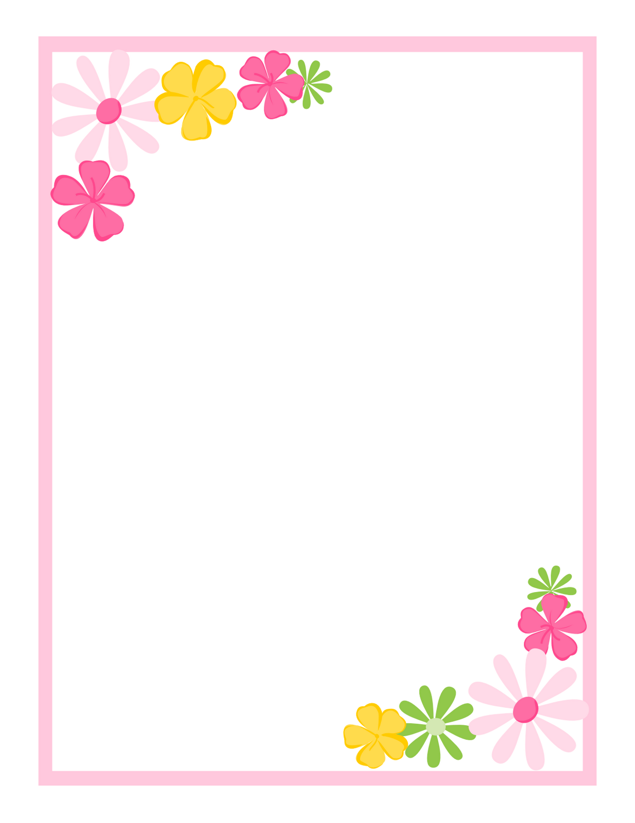 Simple Flower Border Designs For Paper | www.imgkid.com ...