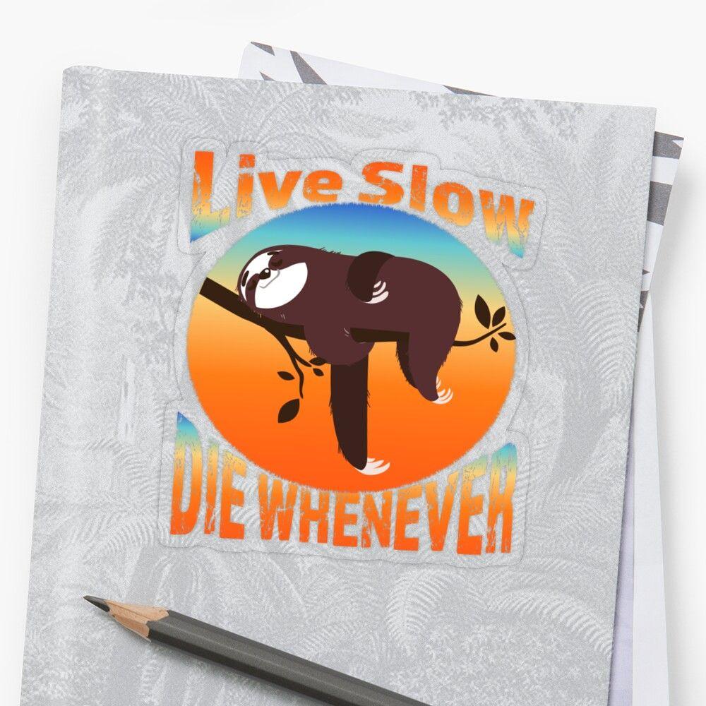 'Funny Sloth Joke' Transparent Sticker by mclz in 2020