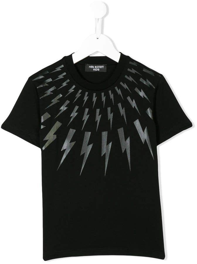 39d967d3 Lightning Bolt Neil Barrett Kids T-shirt | Products | Mens tops, T ...