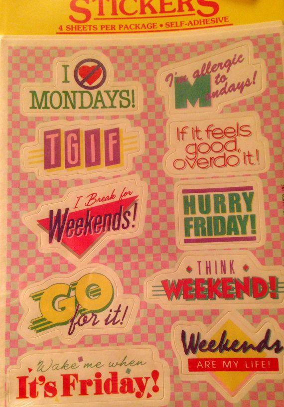 1984 Vintage Stickers By Metzlislight On Etsy 4 95 Sticker Collection Vintage Text Sticker Design