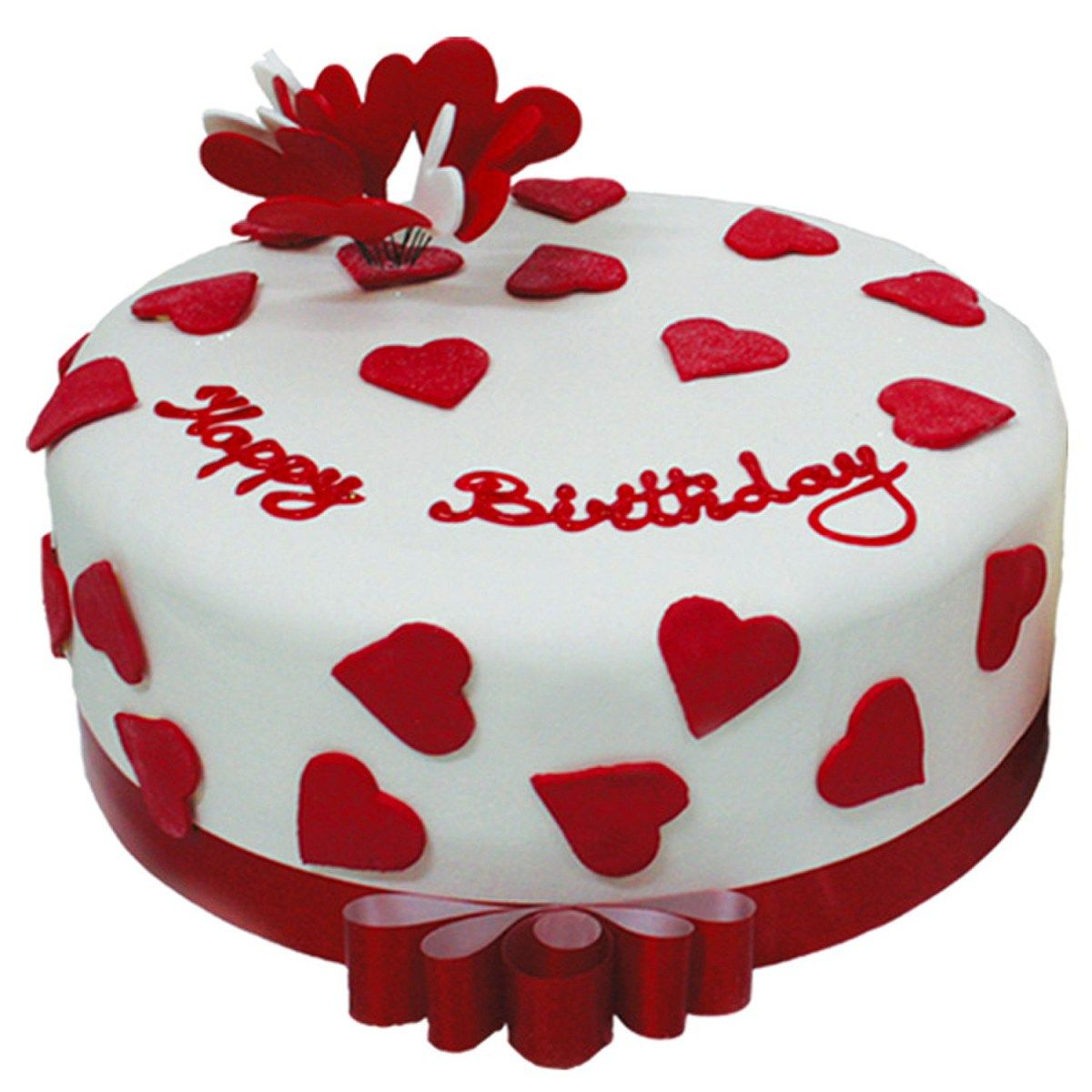 Excellent H Eart Happy Birthday Cake Picture Red And White Hearts Red Funny Birthday Cards Online Alyptdamsfinfo