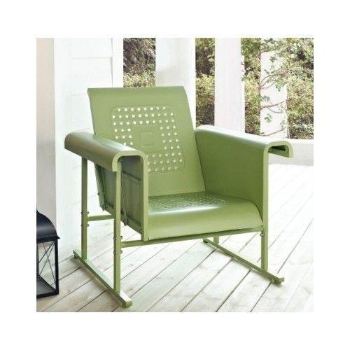Outdoor Glider Chair Retro Vintage Patio Furniture Steel Glide Rocker Indoor Sit Glider Chair Patio Rocking Chairs Furniture