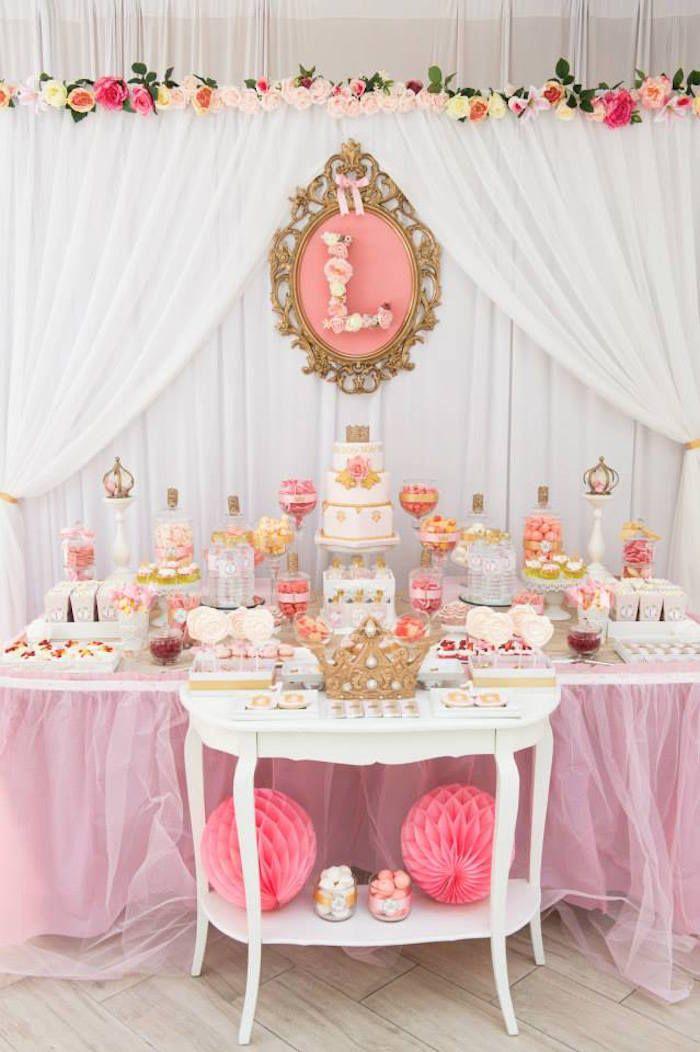 Pink & Gold Princess Party via Kara's Party Ideas | KarasPartyIdeas.com (35)