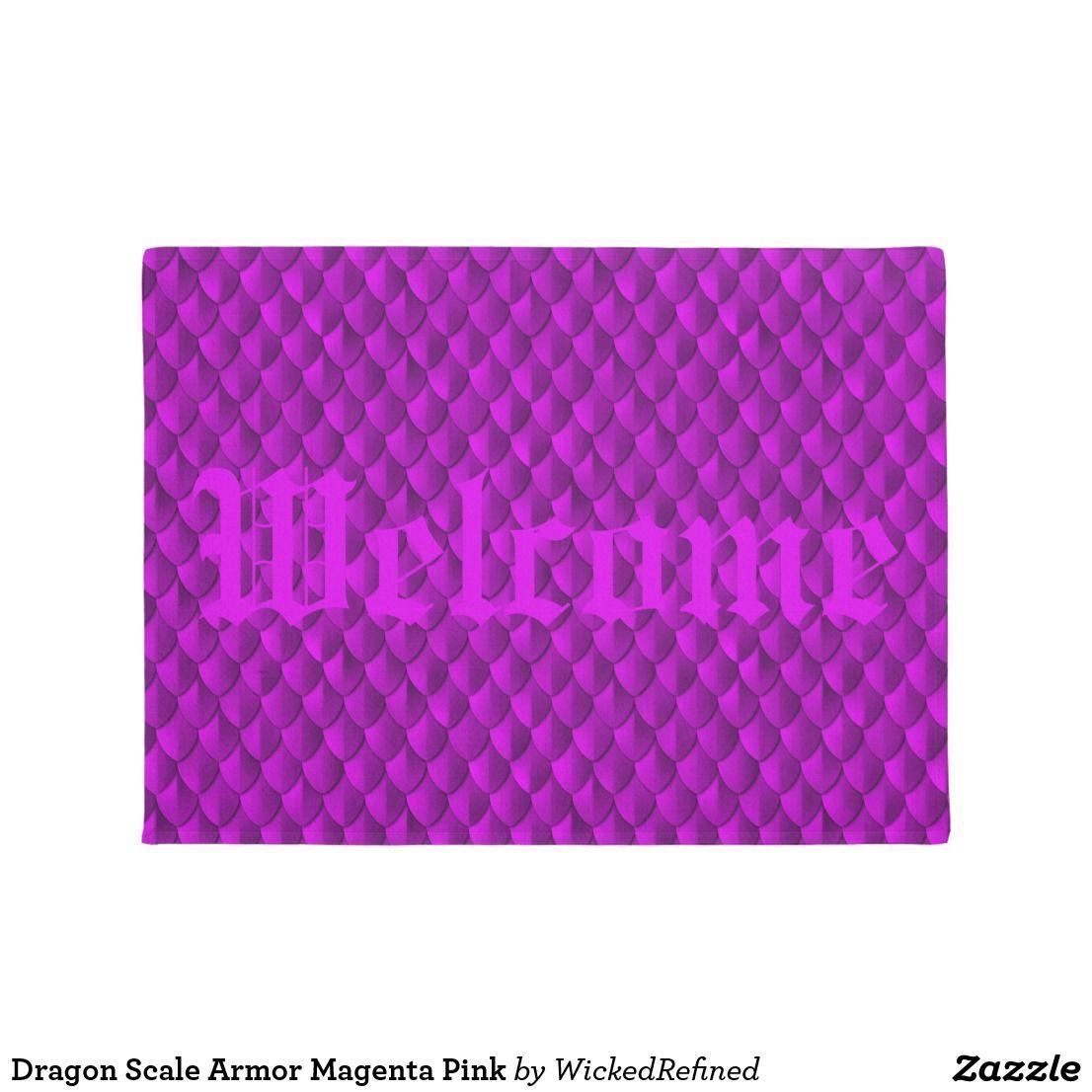 Doormat dragon scale armor magenta pink change greeting to any doormat dragon scale armor magenta pink change greeting to any saying kristyandbryce Images
