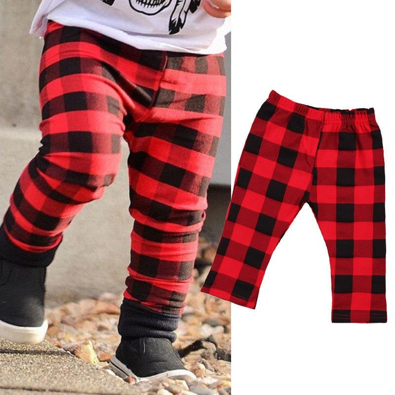 fb113f960 Cute Cotton Plaid Long Pants For Boys Girls Hot Sale Newborn Baby Girl Boy  Lattice Pants