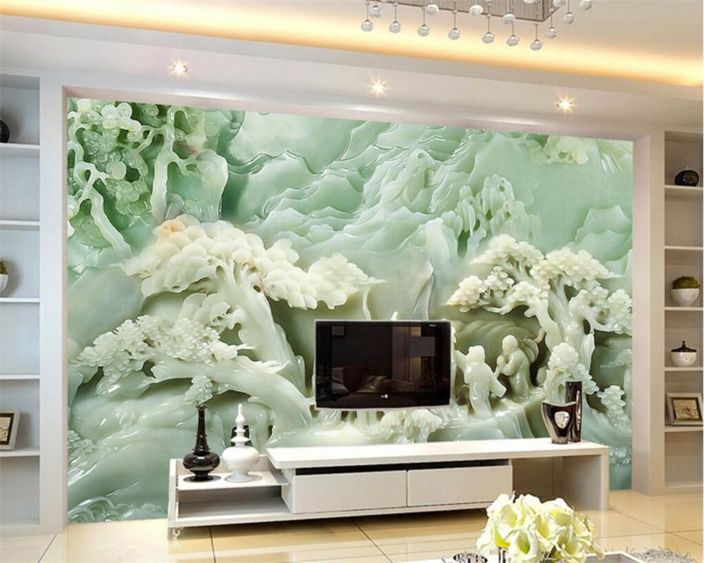 Beibehang photo wall mural wallpaper embossed peony jade carving beibehang photo wall mural wallpaper embossed peony jade carving landscape fresco custom made any size 3d amipublicfo Gallery