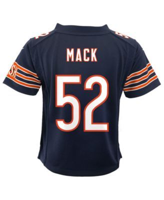 more photos 6ea80 317ad Little Boys Khalil Mack Chicago Bears Game Jersey in 2019 ...