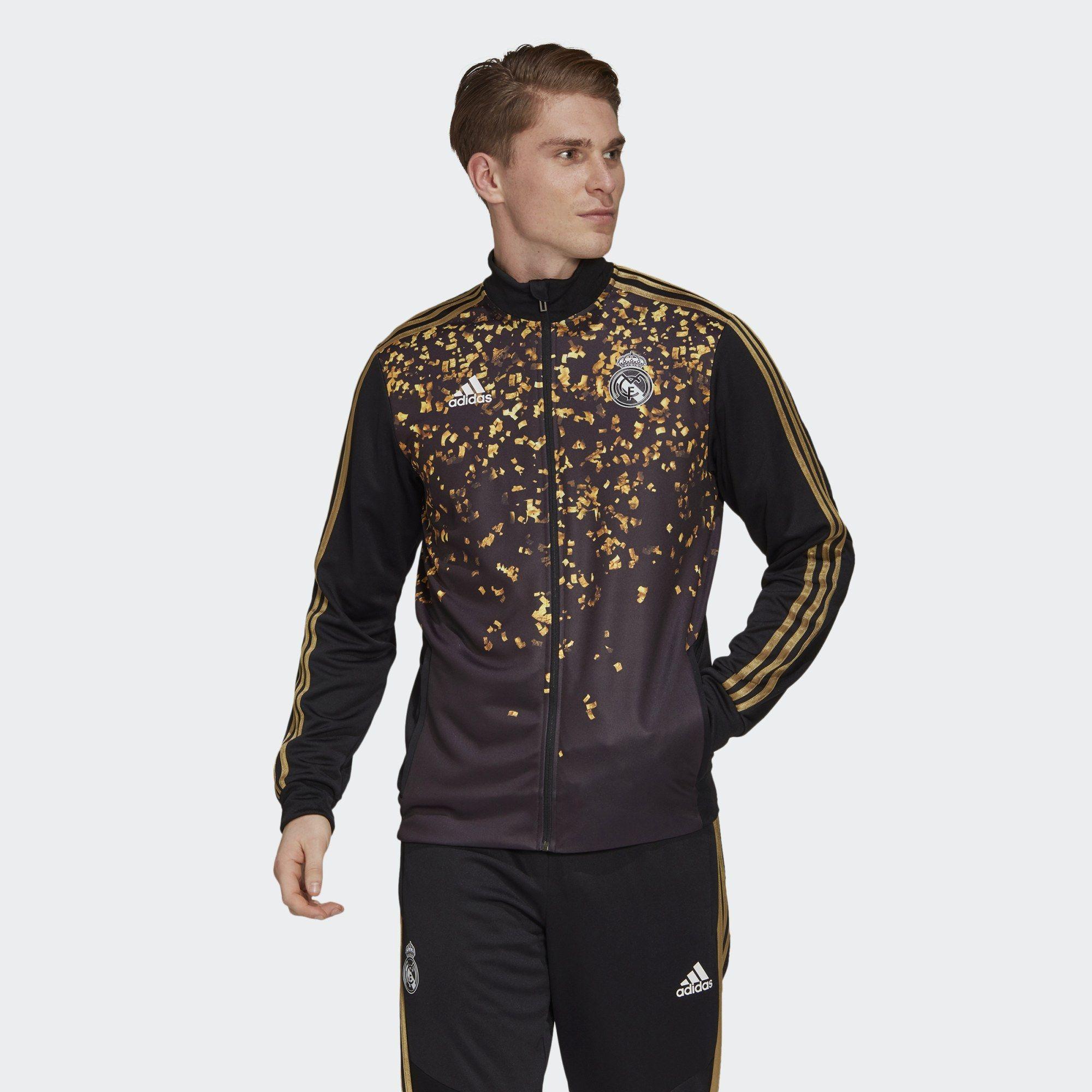 adidas real madrid ea track track top black  gold metallic