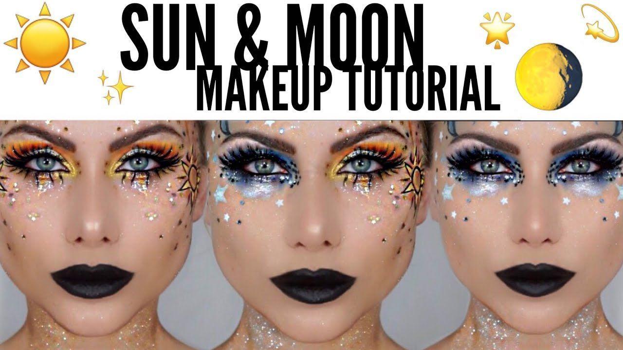 beeisforbeeauty glitter Halloween Makeup Moon Sun