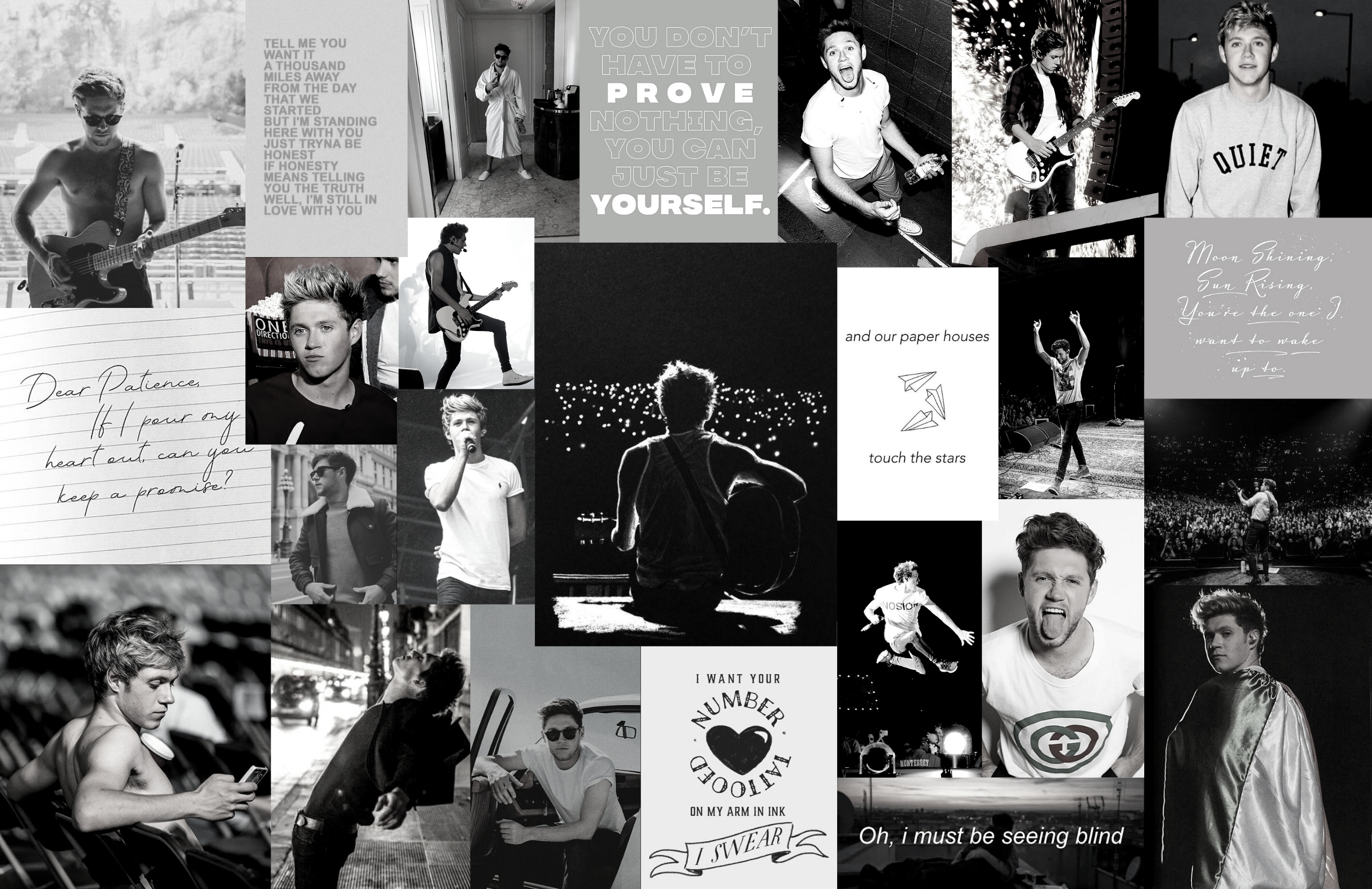 Niall Horan Aesthetic Wallpaper Collage Etsy Harry Styles Wallpaper Wallpaper Notebook Macbook Wallpaper