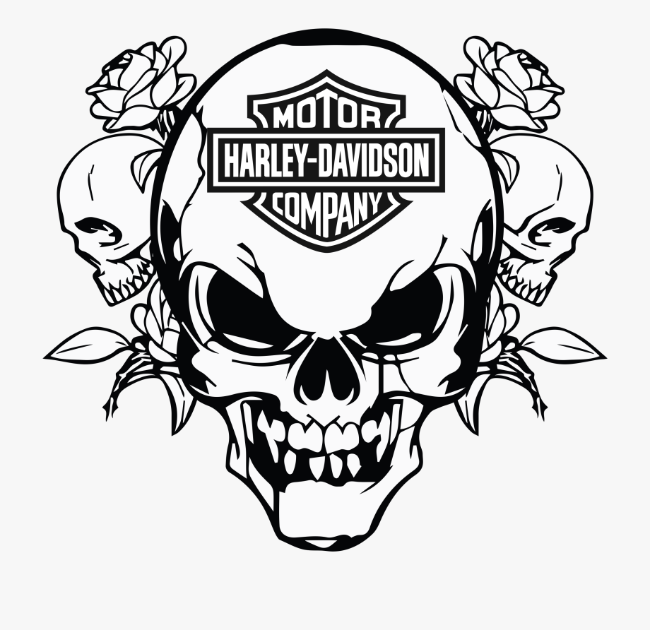 Motorcycle Clipart Skull Harley Motorcycle Clipart Skull Coloring Pages Harley