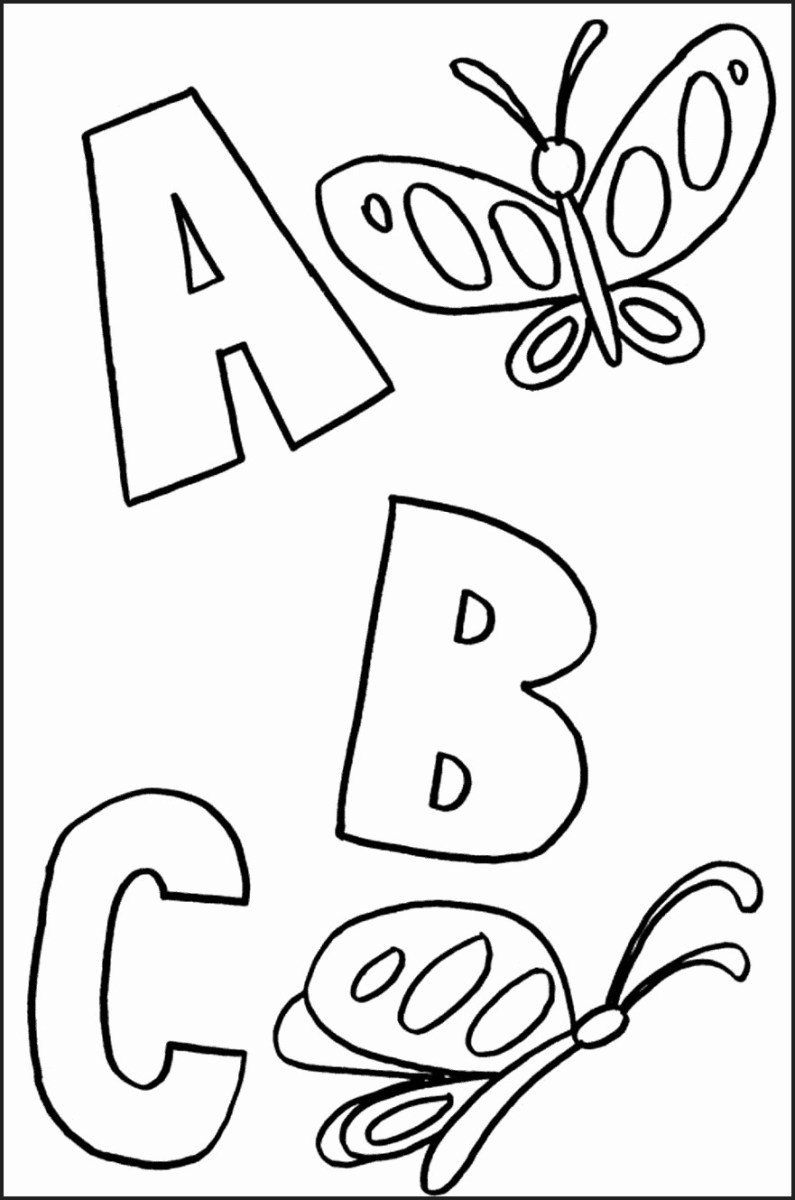 Coloring Pages For Toddlers To Print Printable Coloring Pages For Toddlers Lovely Holiday In 2020 Abc Coloring Pages Kindergarten Coloring Pages Spring Coloring Pages
