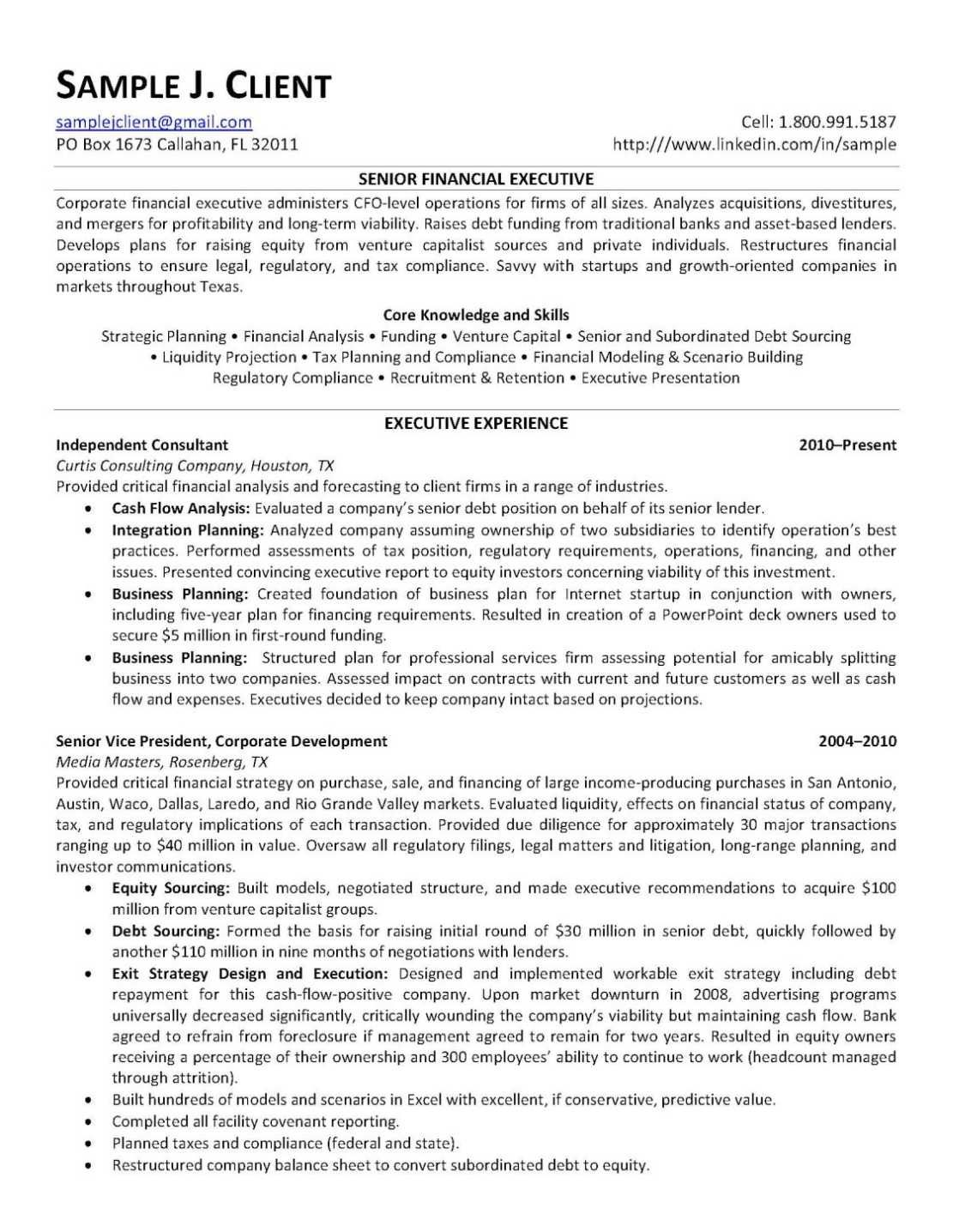 Good Example Of A Resume Resume Sample Regarding Marvellous Examples Excellent Resumes Focus .