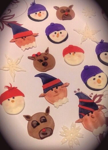 Winter culcake toppers