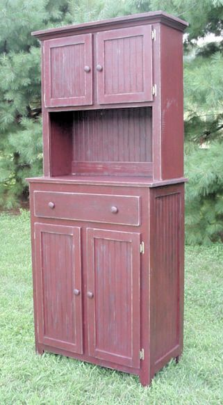 Country Hutch For The Microwave Primitive Furniture Antique