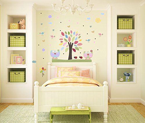 Handmade Nursery Nursery tree Wall Decals - Baby Girl Room Nursery ...