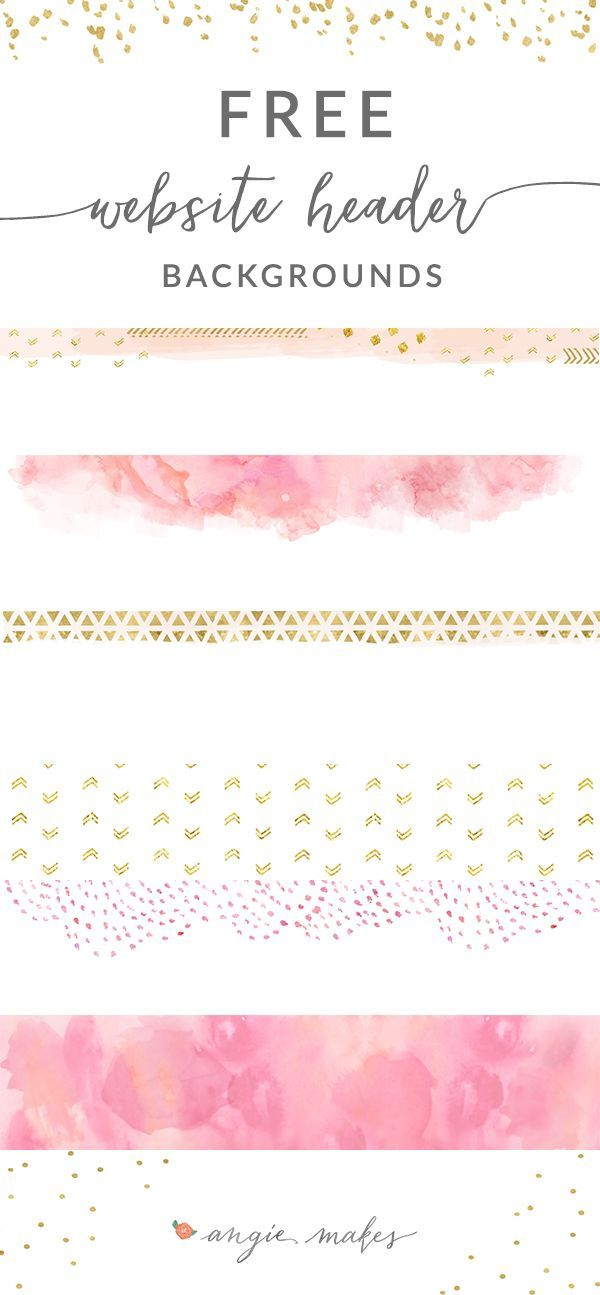 Free Pink Gold Website Header Backgrounds Social Media