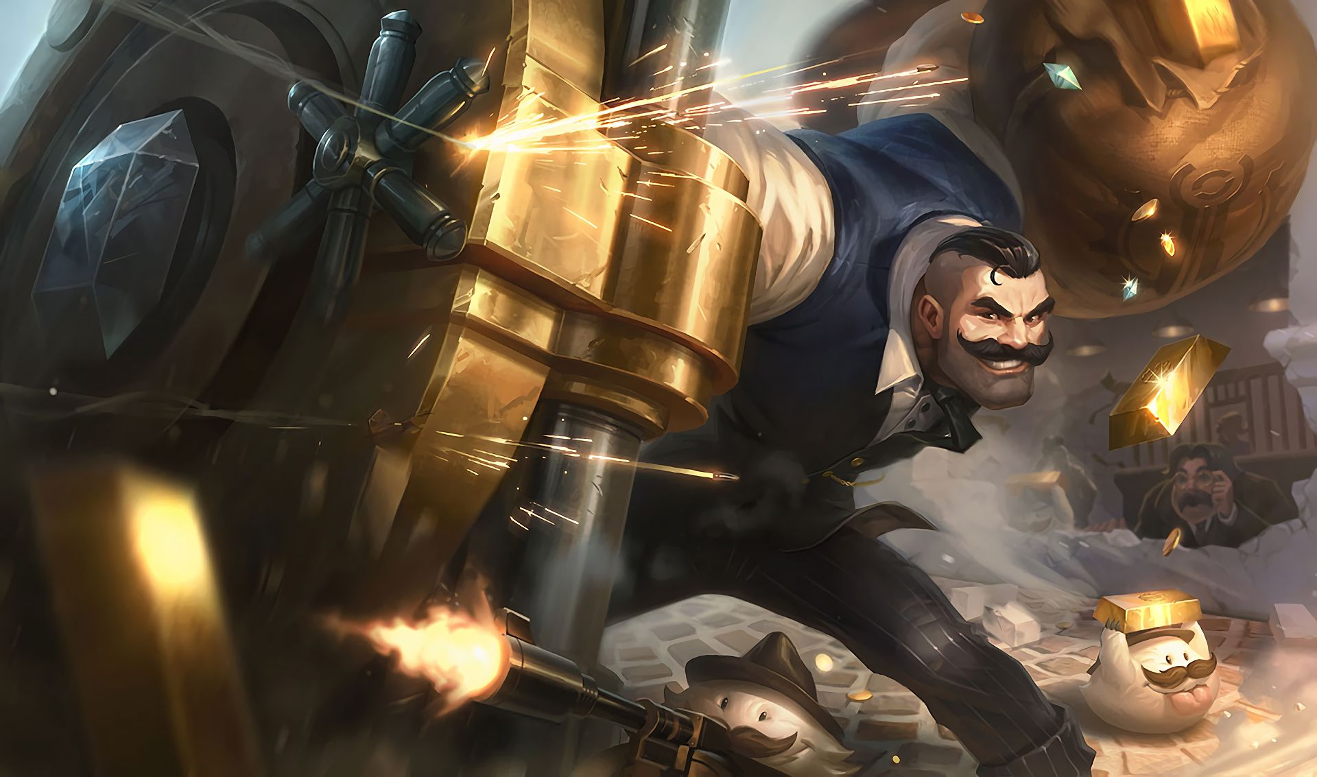 Mafia Braum Hd Wallpaper Background Official Art Artwork League Of Legends Lol Jpg 1920 1133 Braum S League Of Legends Champions League Of Legends