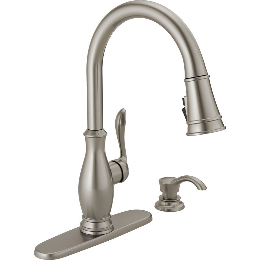 Delta Zalia Spotshield Stainless 1-Handle Pull-Down Kitchen Faucet ...