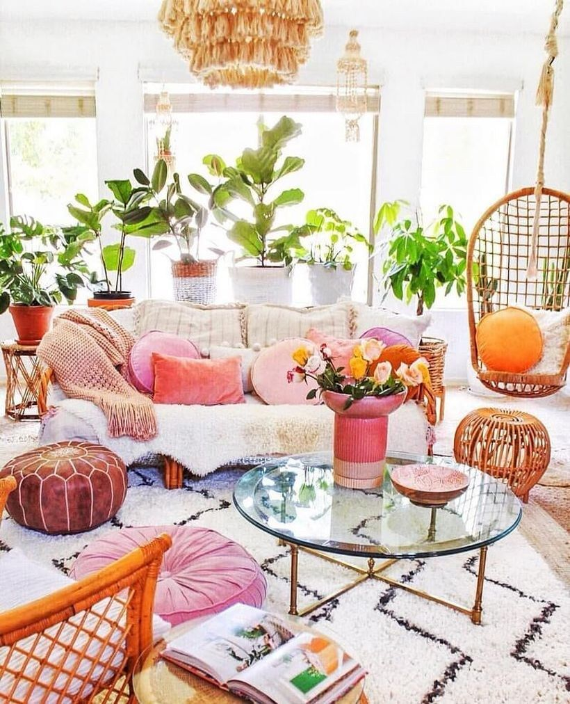 20 Pretty Ways to Apply Boho Style for Your Whole Home Decoration ~ Matchness.com