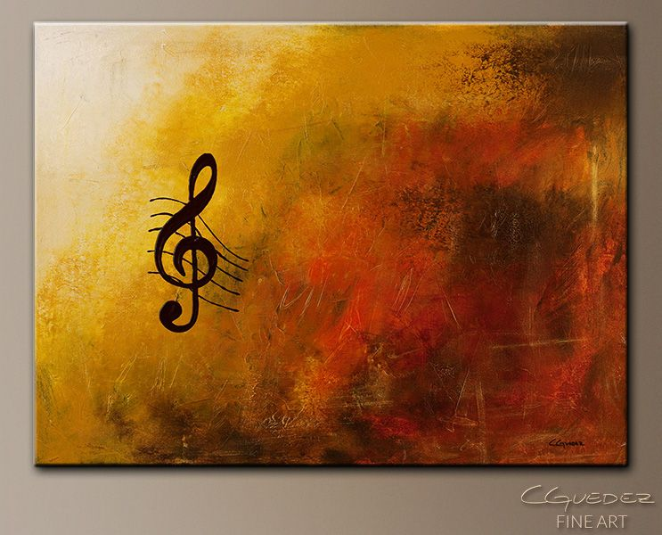Musical Canvas Painting Ideas Abstract Symphony Modern