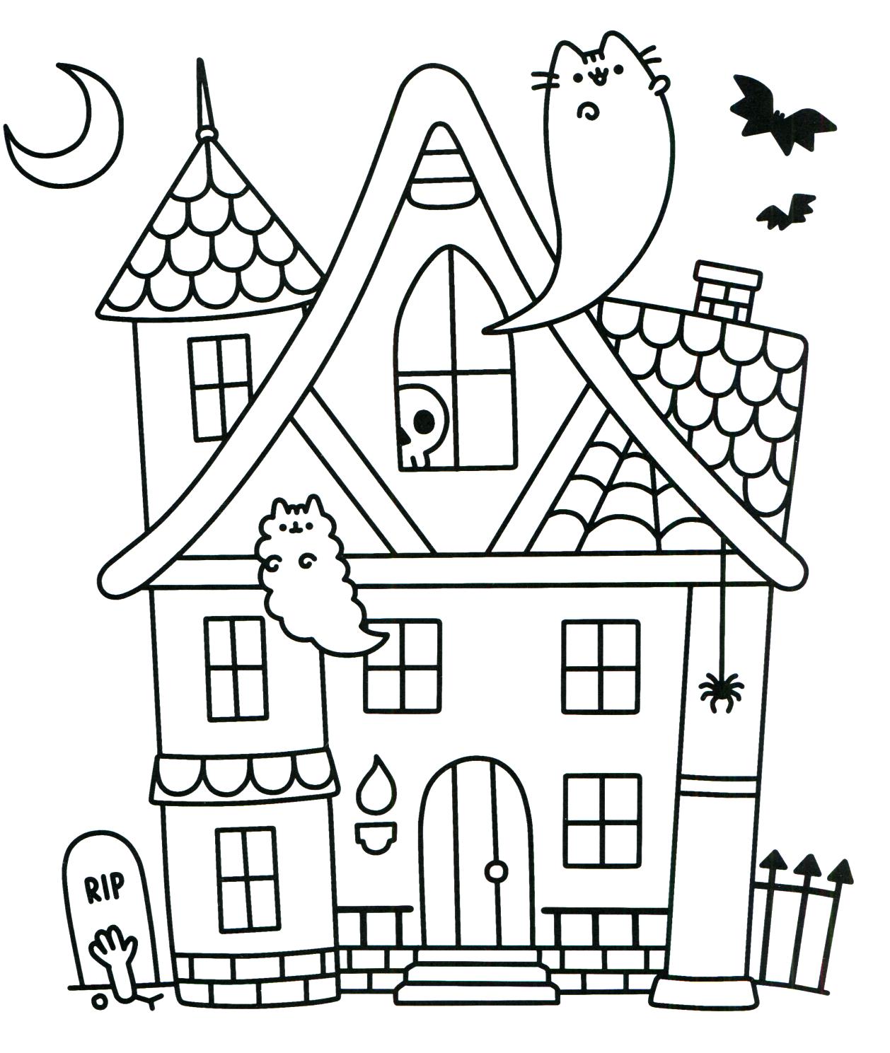 Pusheen Coloring Book Pusheen Pusheen the Cat | Pusheen Coloring ...