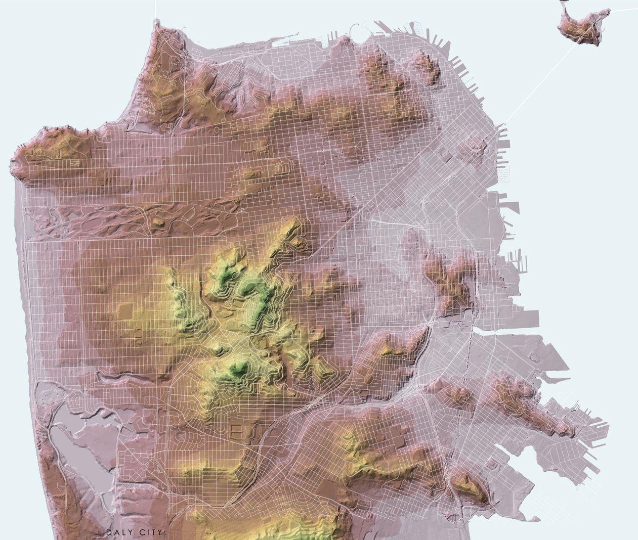 Related image Topographic MapSan Francisco Related