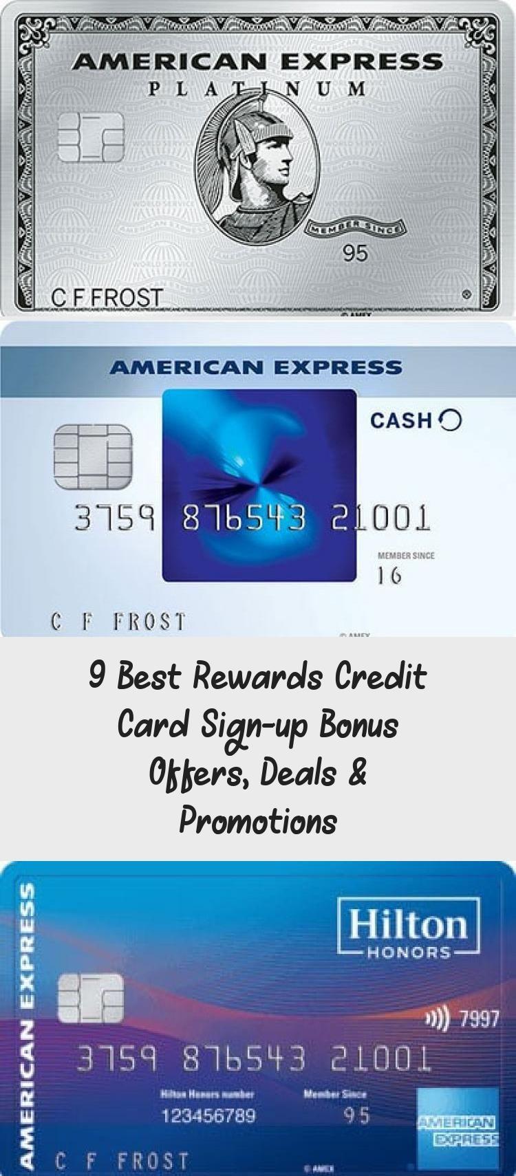 9 Best Rewards Credit Card Sign Up Bonus Offers Deals
