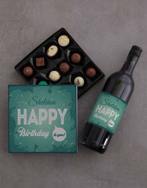 Happy Birthday To You Chocolate Tray