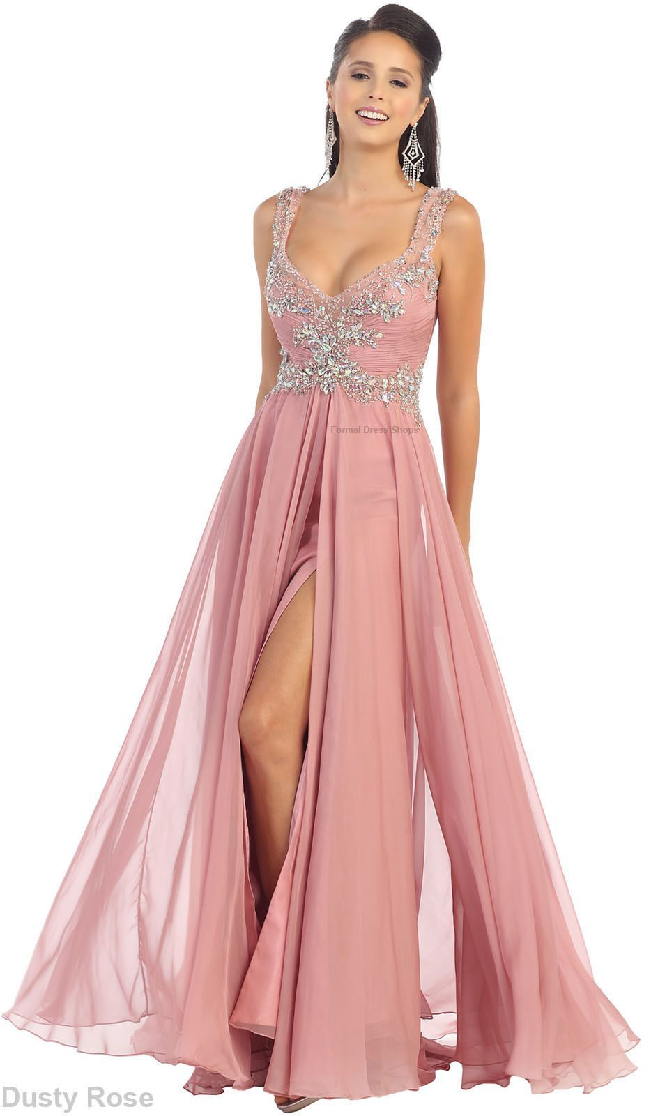 New flowy long dress formal dance party classy evening gowns pageant ...