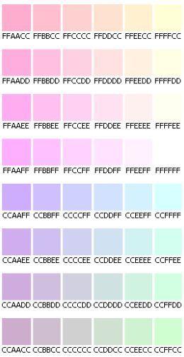 code html des couleurs pastel mi sitio bride style. Black Bedroom Furniture Sets. Home Design Ideas